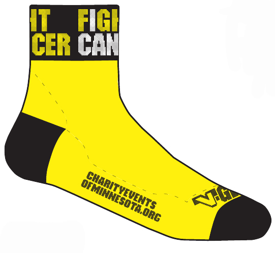 Fight Cancer Bike Socks